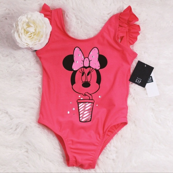 NWT Baby GAP Navy Red White Polka Dot Flower Tankini Swimsuit U Pick Size NEW